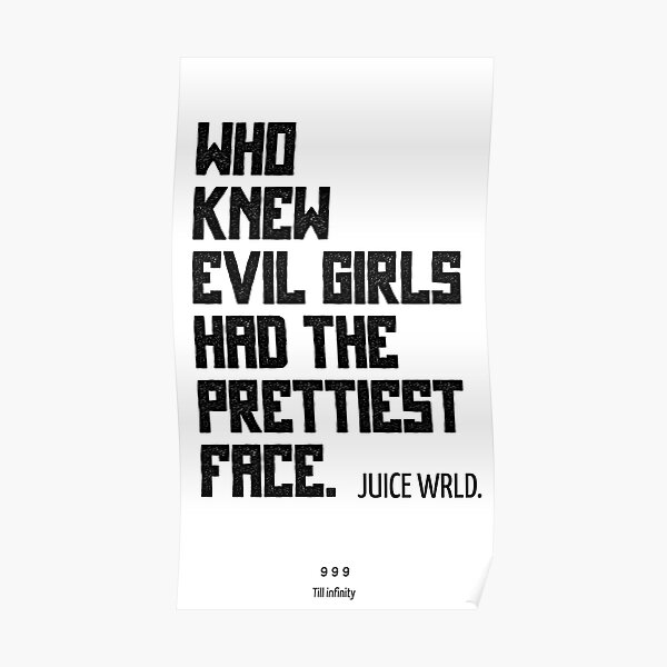 JuiceWRLD. All girls are the same Poster RB0406 product Offical Juice WRLD Merch