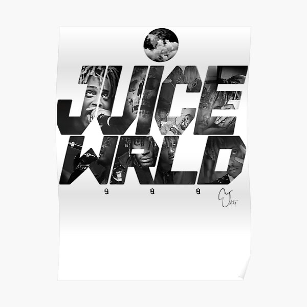 JuiceWRLD text graphic Poster RB0406 product Offical Juice WRLD Merch