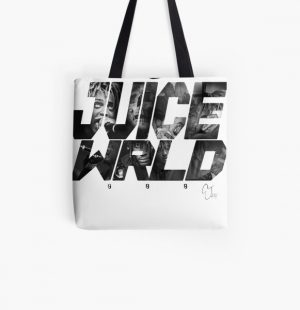 JuiceWRLD text graphic All Over Print Tote Bag RB0406 product Offical Juice WRLD Merch