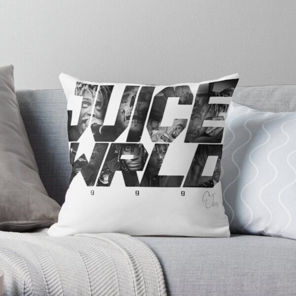 JuiceWRLD text graphic Throw Pillow RB0406 product Offical Juice WRLD Merch