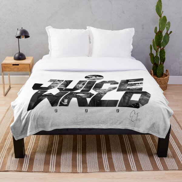 JuiceWRLD text graphic Throw Blanket RB0406 product Offical Juice WRLD Merch