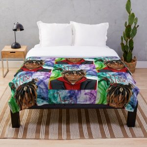 JuiceWrld Colorful Throw Blanket RB0406 product Offical Juice WRLD Merch