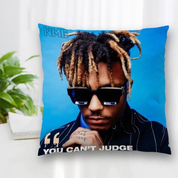 Cushion Juice WRLD Rapper Pattern Cover Throw Pillow Case Cushion For Sofa Home Car Decor Zipper - Juice Wrld Store