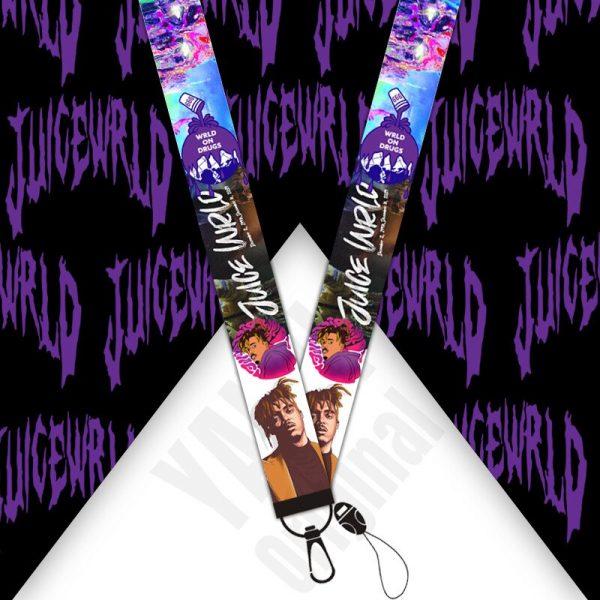 Fashion Mobile Phone Lanyard Wristband Juice Wrld European and American Star Ribbon Keychain Long Lanyard 1 - Juice Wrld Store