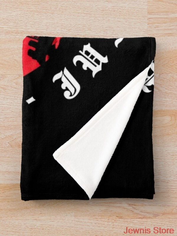 JUICE WRLD Blanket Warm Cozy Letter Throw Blanket Print on Demand Sherpa Blankets for Sofa Thin 2 - Juice Wrld Store