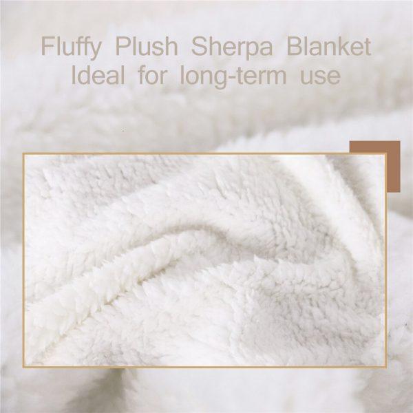 JUICE WRLD Blanket Warm Cozy Letter Throw Blanket Print on Demand Sherpa Blankets for Sofa Thin 3 - Juice Wrld Store