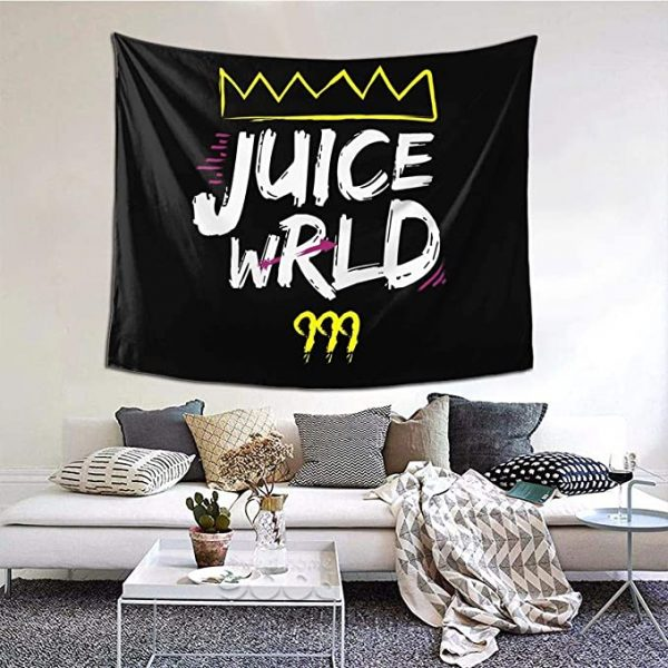Juice Wrld 999 Tapestry Wall Hanging Colorful Fashion Rapper Wall Blanket Interior Decoration Bedroom Dormitory Apartment - Juice Wrld Store