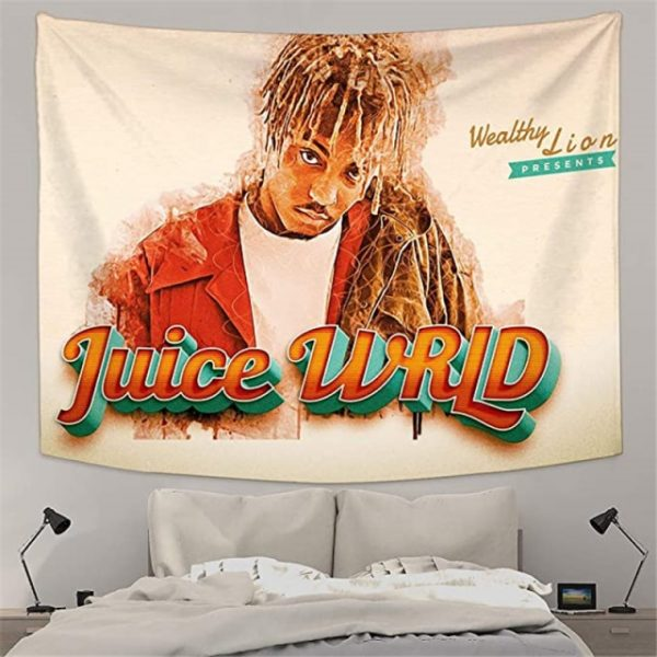 Juice Wrld Tapestry Wall Hanging Rap Wall Tapestry Decorative Blankets for Bedroom Living Room Dorm Home 9.jpg 640x640 9 - Juice Wrld Store