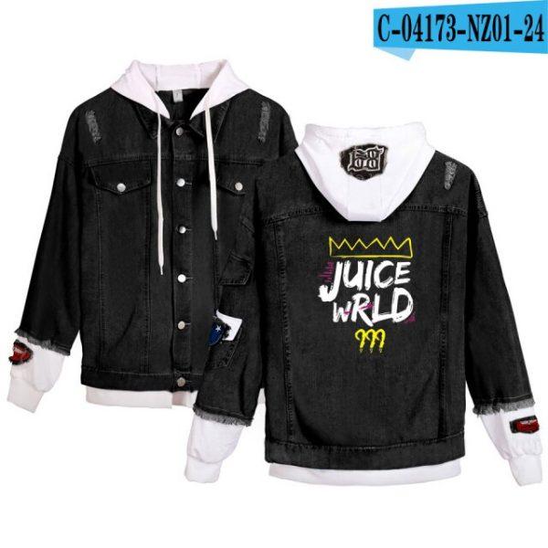 Juice Wrld denim jacket Young People Spring Autumn Hot Fashion Juice Wrld 999 hooded Denim wear 15.jpg 640x640 15 - Juice Wrld Store