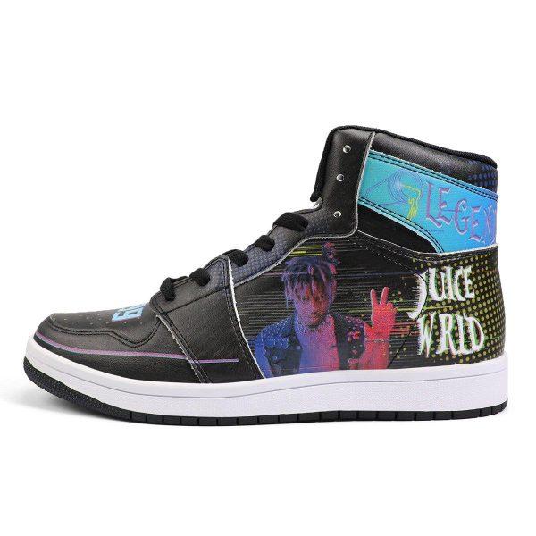 juice wrld high top leather sneaker custom jordan 1 rapper juice wrld noxfan - Juice Wrld Store