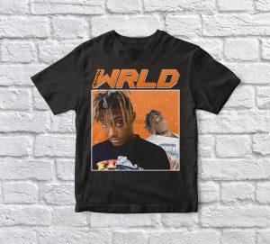 Juice WRLD 90s Vintage Unisex Black T-shirt - JWM1809