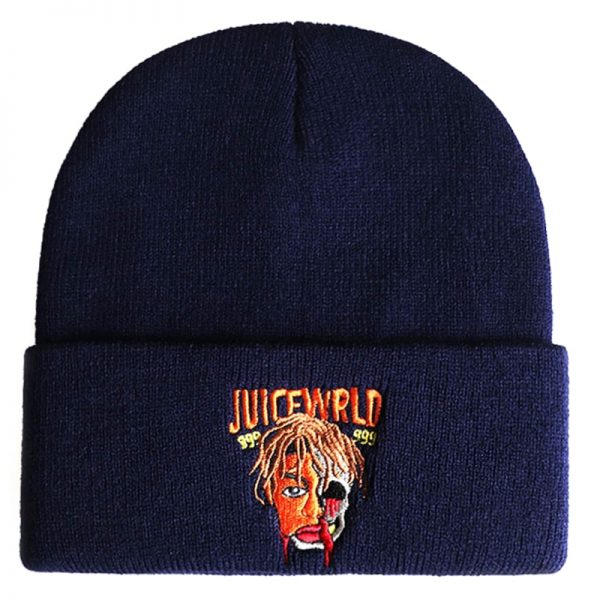 Juice Wrld 999 Beanie Embroidery Winter Hat Cotton Knitted Hat Skullies Beanies Hat Hip Hop Knit 4 - Juice Wrld Store