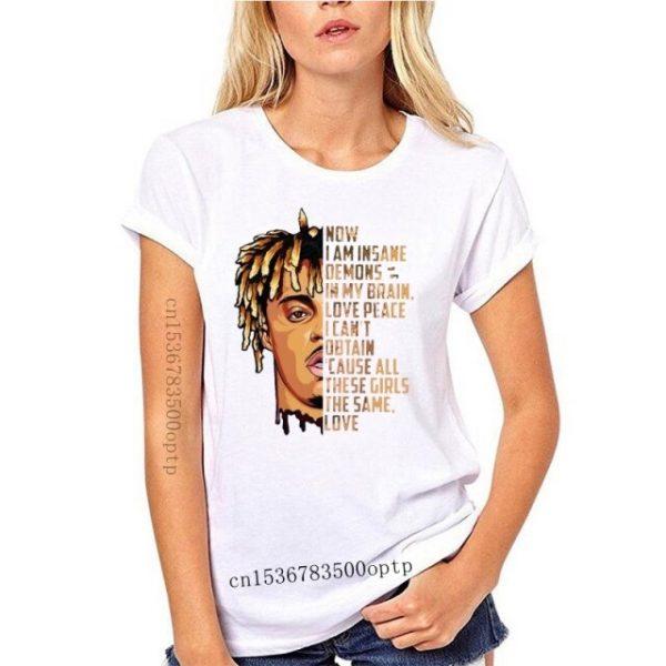 New JUICE WRLD Now I am insane All these girls the same love Black T shirt 14.jpg 640x640 14 - Juice Wrld Store
