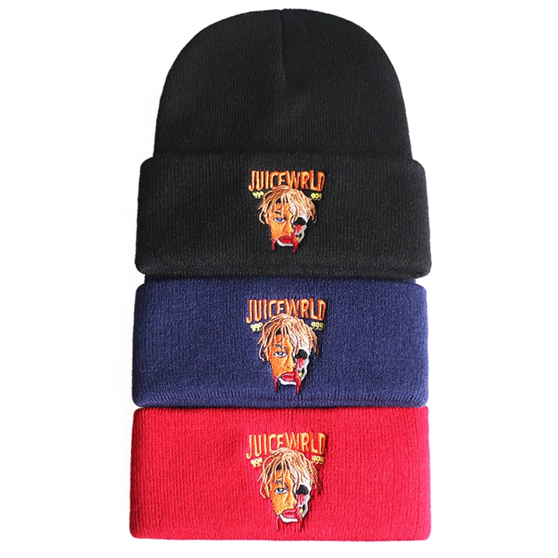Juice Wrld 999 Beanie - Winter Cotton Knitted Hat Hip Hop